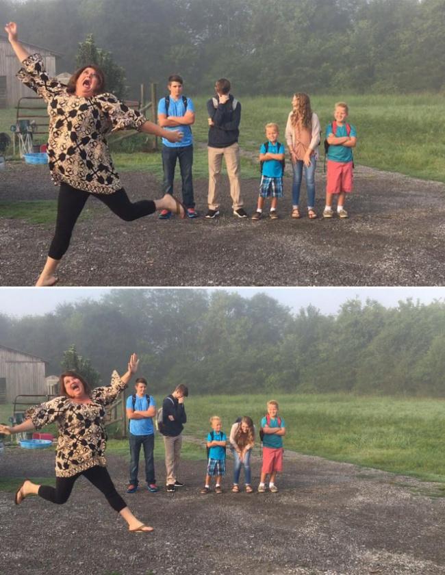 © reddit      2. Как празднуют начало школы родители, укоторых трое детей