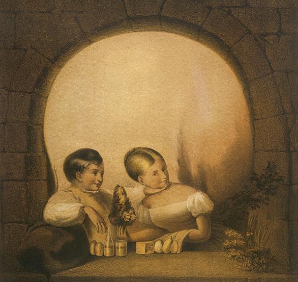 Это изображение создано художником Джорджем Вотерспуном. Кстати, он был современником известного аме