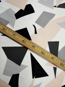 "Футер ""Геометрия"" 2н петля Пенье 95хб 5лайкра Пл 240 ширина 180 Цена 480,00"