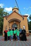 14 сентября на территории Всехсвятского храма Озёрского благочиния был проведён субботник по благоустройству территории