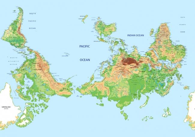 Школьников всех стран учат по разным картам мира