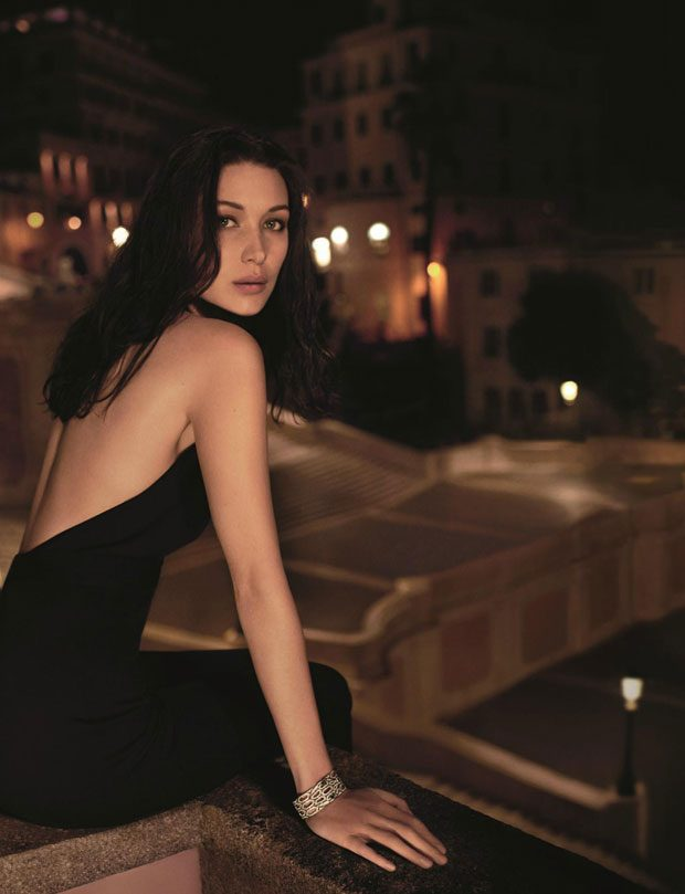 Bella Hadid Becomes The Face of BVLGARI Goldea The Roman Night (4 pics)