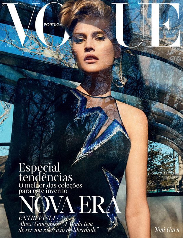 Supermodel Toni Garrn lands the cover story of Vogue Portugal 's September 2017 edition captur
