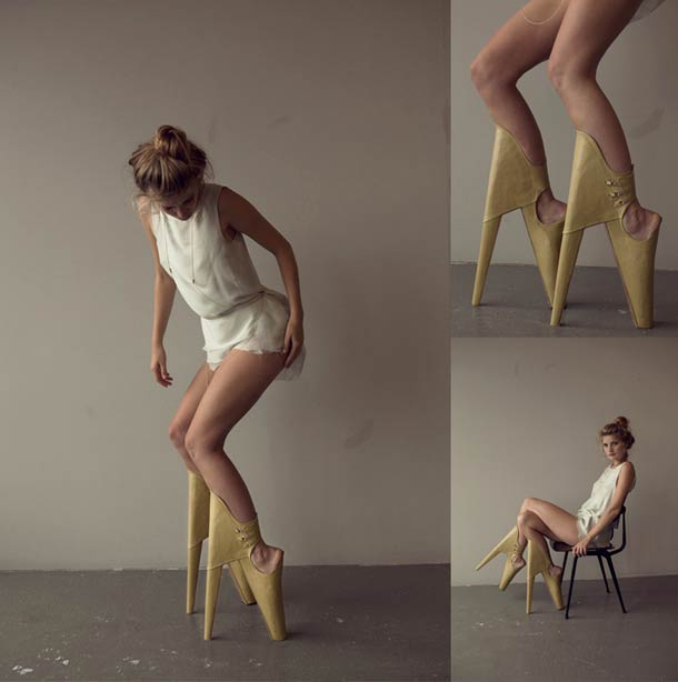 Scary Beautiful - Reversed High Heels Shoes