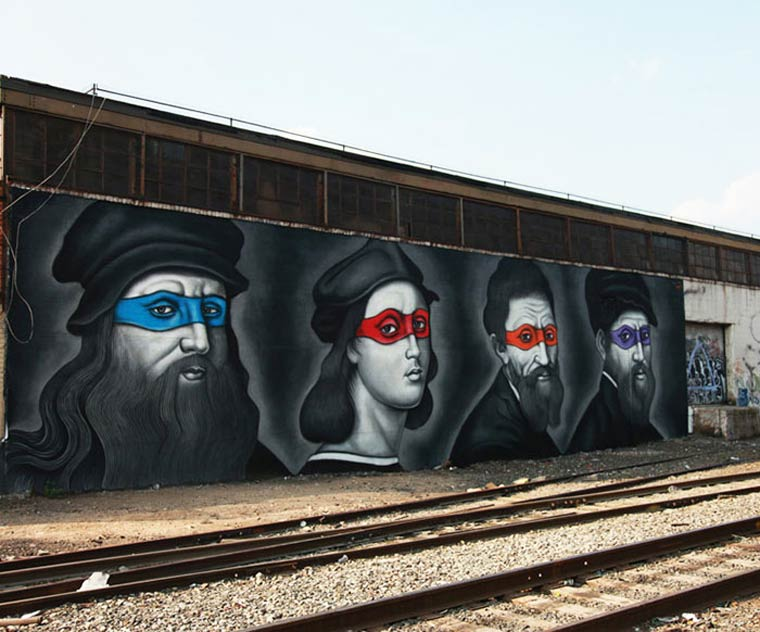 Street Art - When the Ninja Turtles meet the artists from Renaissance