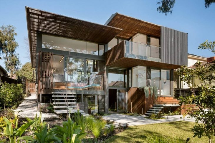 Zen Architects  designed this inspiring contemporary two-storey residence situated i