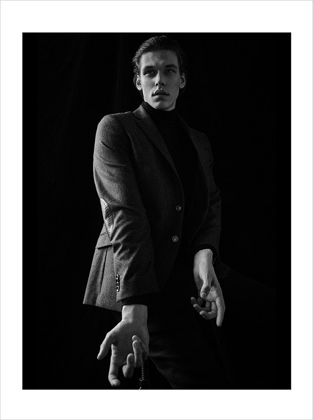 jacket: Lavard turtleneck: Calvin Klein trousers: Jaroslaw Ewert
