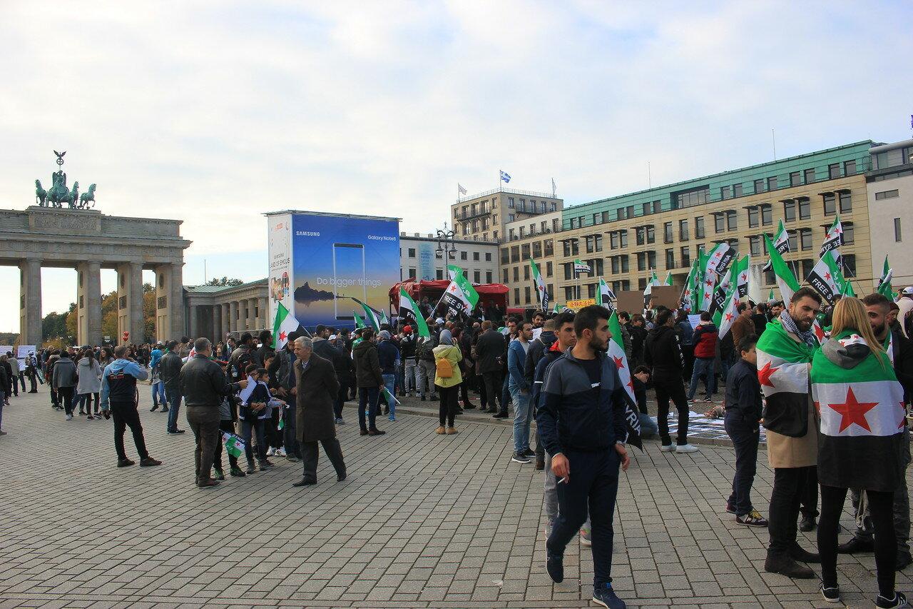 Митинг «За свободную Сирию» в Берлине