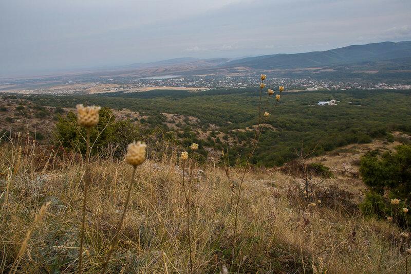 Вид на Старый Крым с горы Агармыш