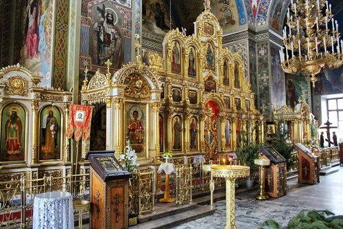 Церковь Воскресения Словущего в Даниловской слободе. Интерьер.