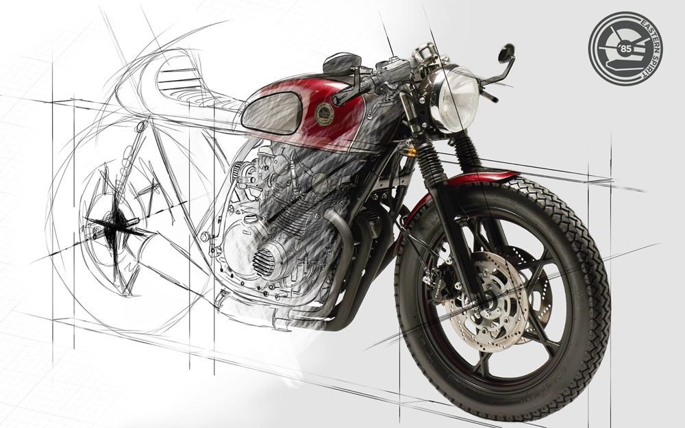 Eastern Spirit Garage: кафе рейсер Suzuki GS550