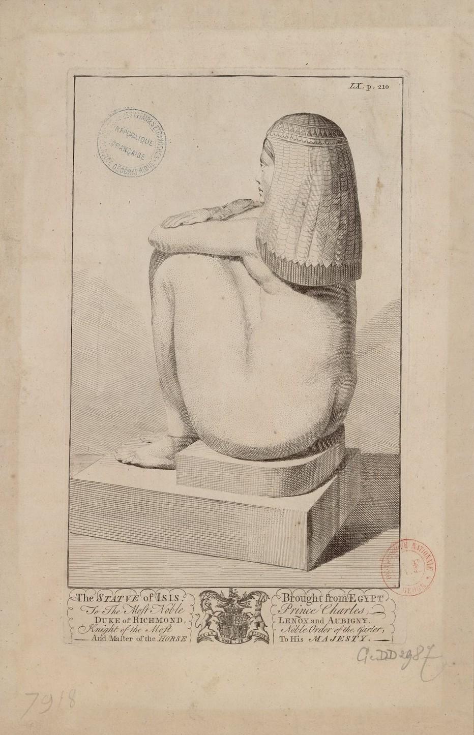 Статуя Исиды, привезенная из Египта принцу Чарльзу, герцогу Ричмонду