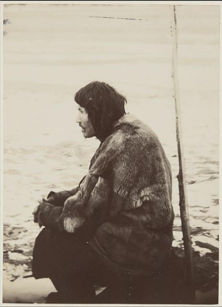 Сидящий хант. Река Вах