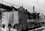 Брошенный броневагон, вероятно из состава бронепоезда №74. Керчь, май 1942 года.