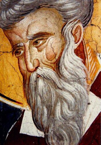 Святитель Тарасий, Архиепископ Константинопольский. Фреска монастыря Высокие Дечаны, Косово, Сербия. Около 1350 года.