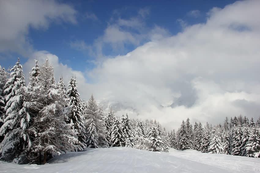 Зима, Отдых, Горы, Франция, Альпы, Ла Плань