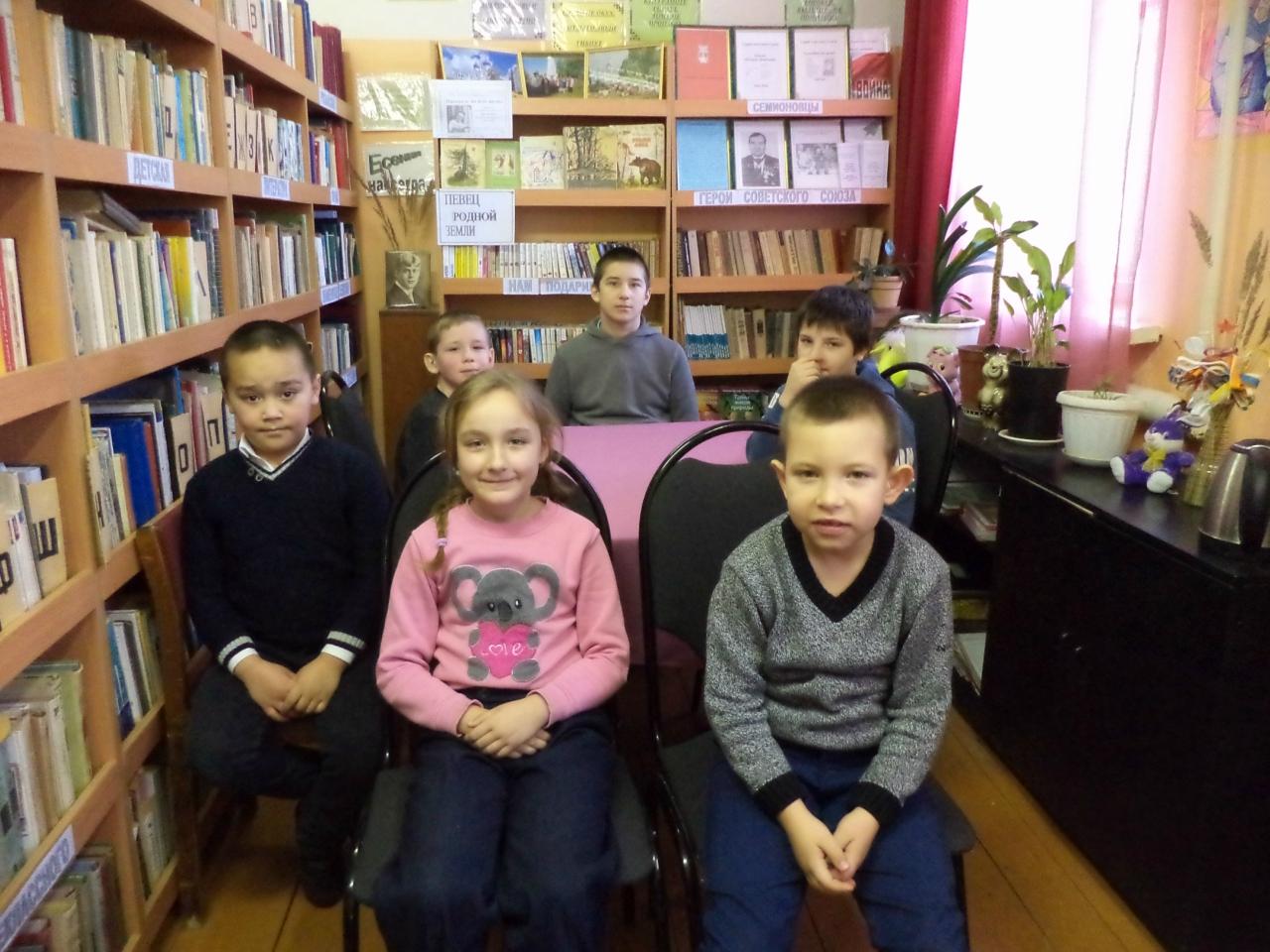 5 февраля в Семионовской сельской библиотеке Кораблинского района был проведен литературный час