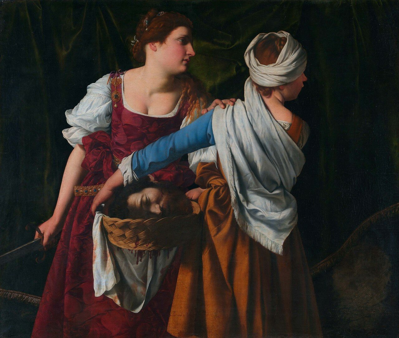 Judith and her maidservant with the head of Holofernes, by Orazi