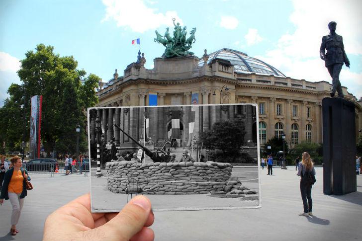Большой дворец сейчас и в 1944 году.