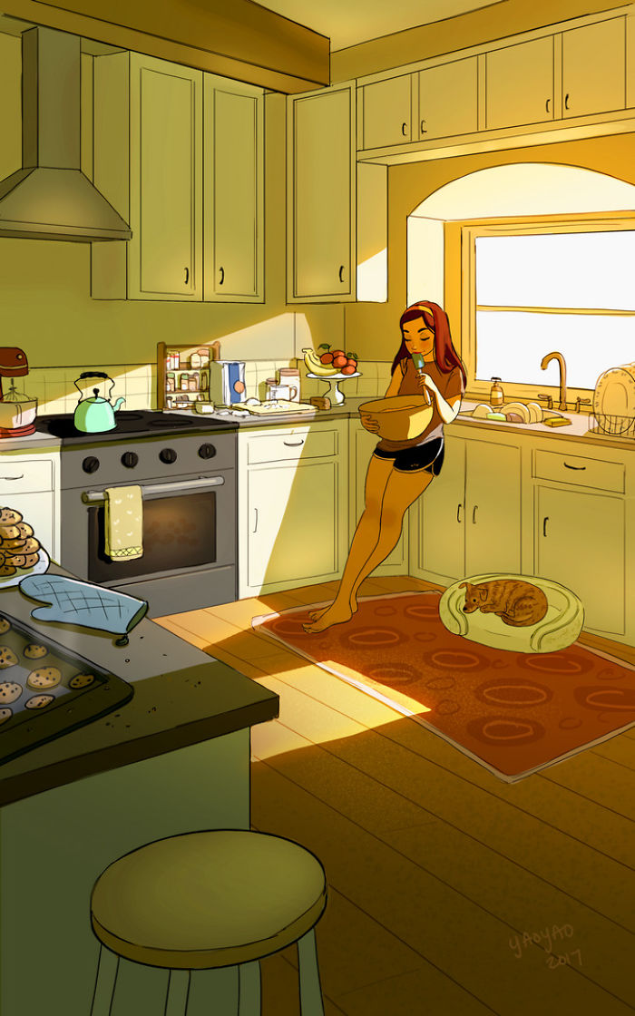 Позитивные иллюстрации о том, как здорово жить одному!