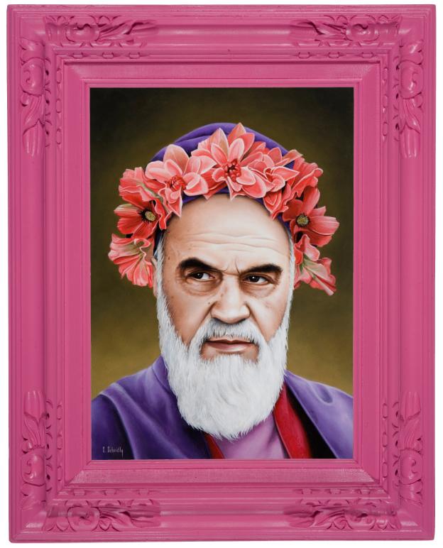 карикатуры политики портреты розовый цвет