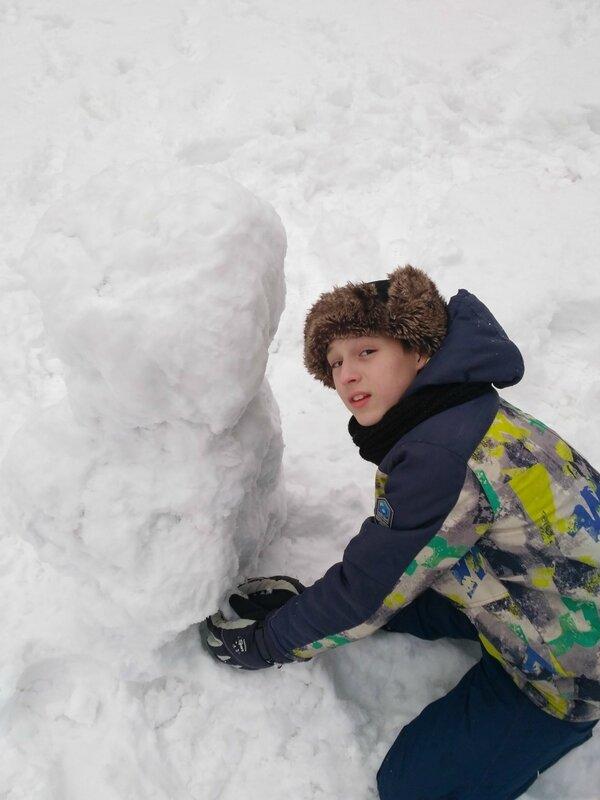 #снег