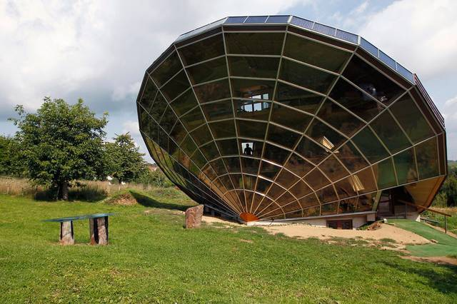 The Heliodome, a bioclimatic solar house is seen in Cosswiller near Strasbourg, eastern France. Phot