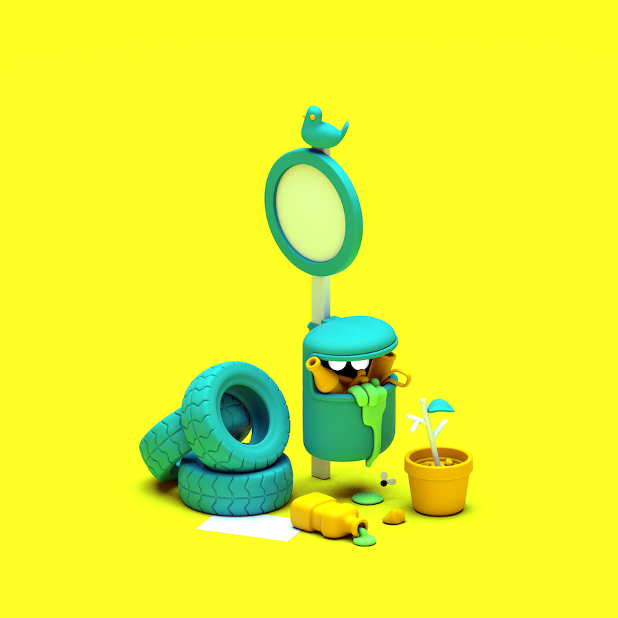 Fun Illustrations About Waste
