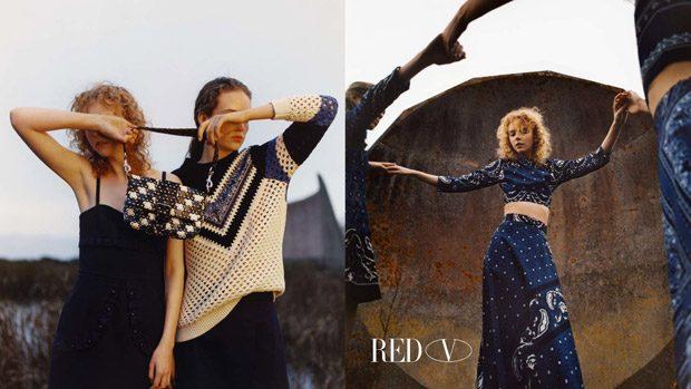 Adrienne Juliger, Lily Nova & Mariana Zaragoza for Red Valentino SS18