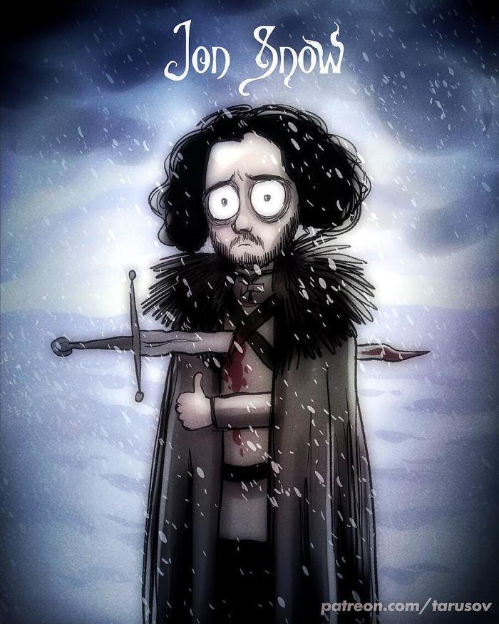 Como seria Game of Thrones se feito por Tim Burton