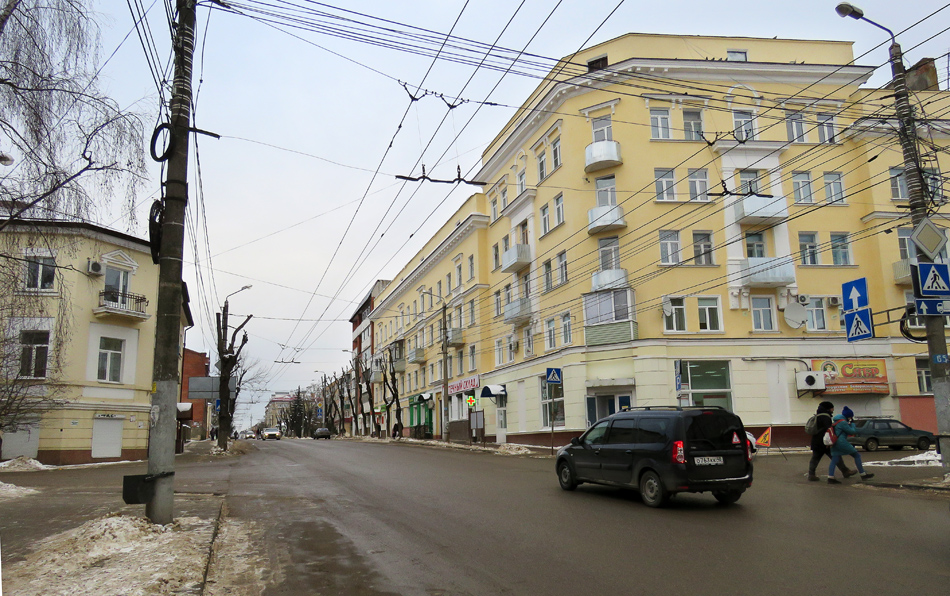 KalugaPart 3: houses and streets of Kaluga, parts, Kaluga, streets, here, Kaluga, Lenin, Kirov, street, street, stands, street, city, frame, part, after, city, angle, Perovskaya, first