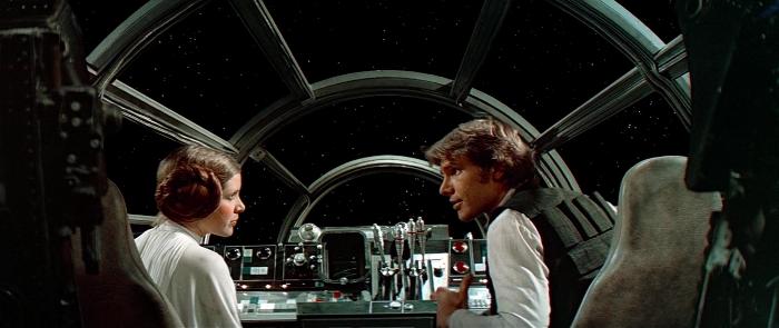 Star Wars (1977): Лея и Хан в пилотской кабине