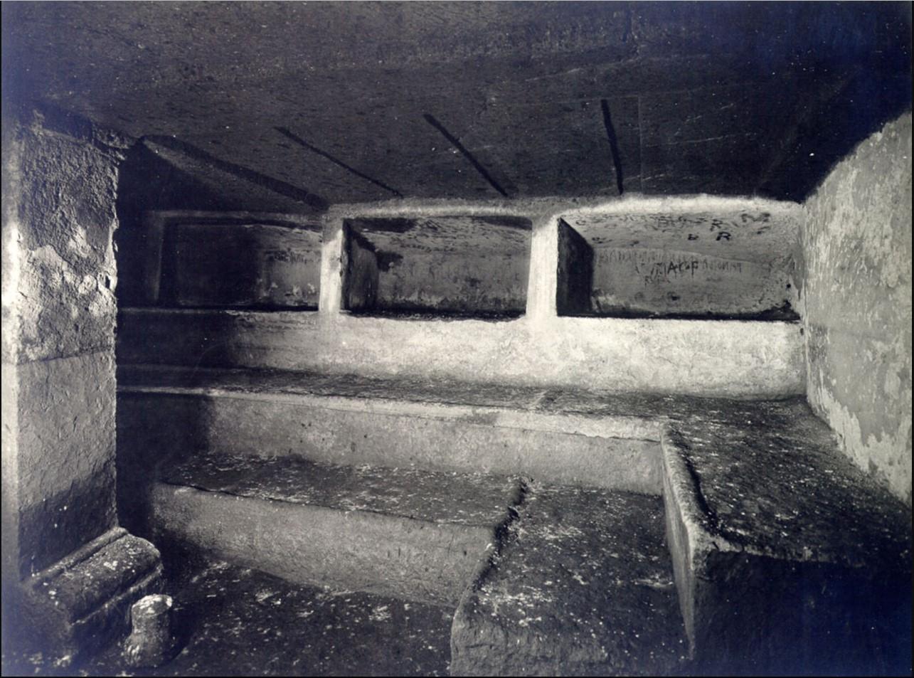 Гробница Тарквиния. Внутренний вид