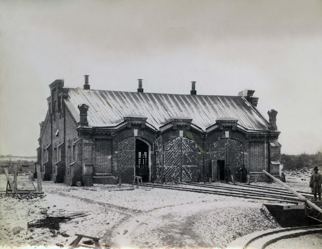 Станция Вожега, паровозное депо, 141 верста. 1894 - 1897