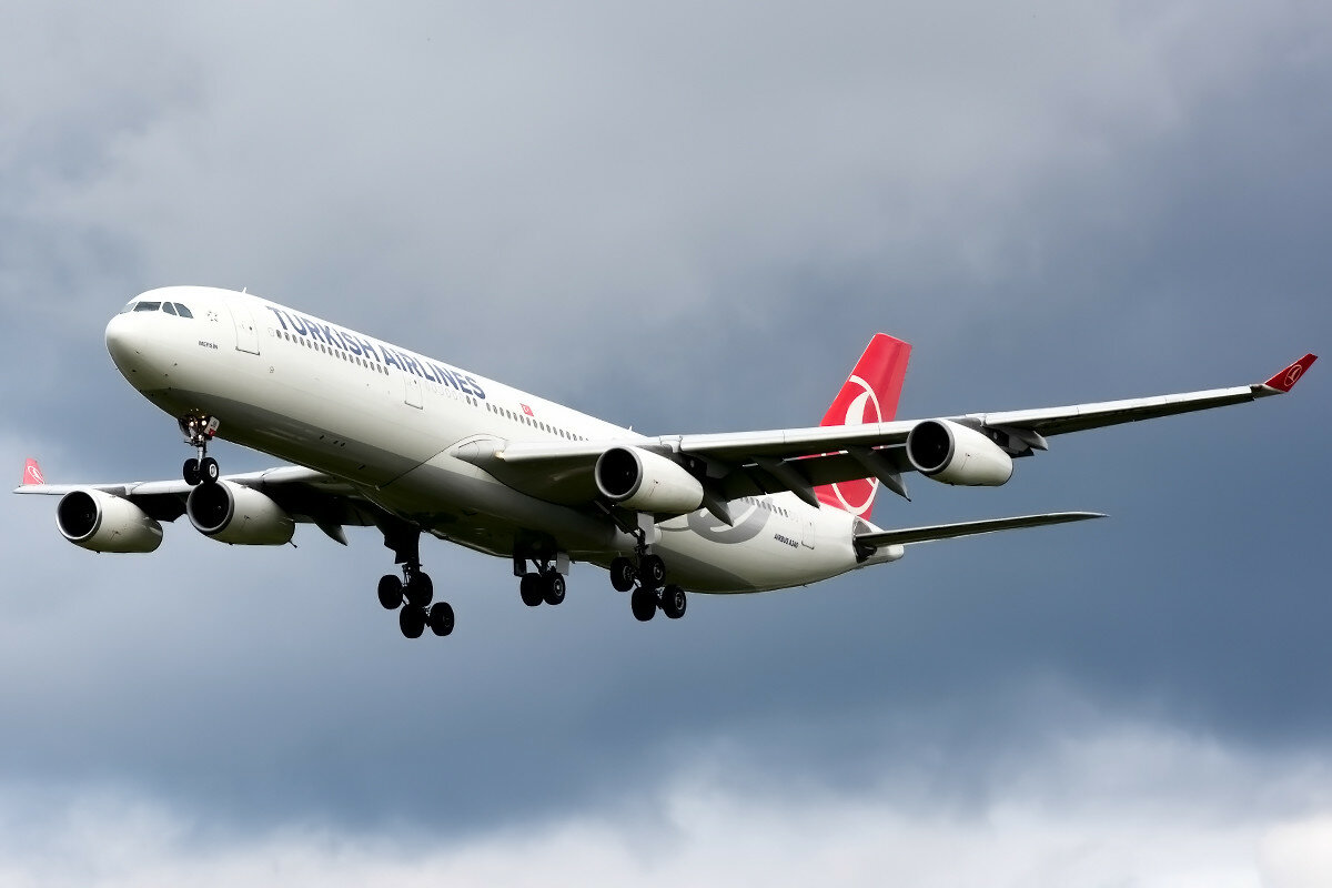 Airbus A340-313X. Turkish Airlines. TC-JII.