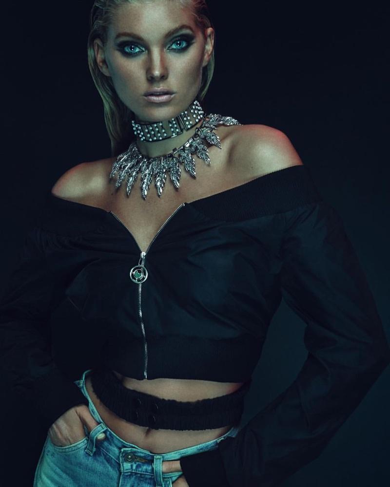 Эльза Хоск в рекламе Fallon