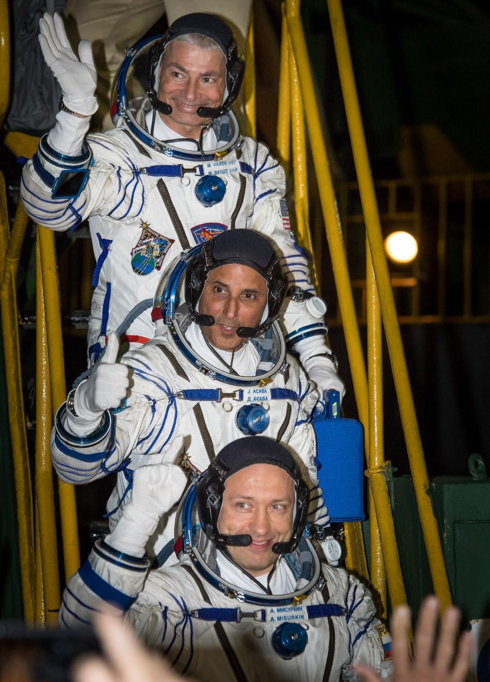 Поехали! Старт космического корабля «Союз-МС-06» с космодрома Байконур в Казахстане в четверг
