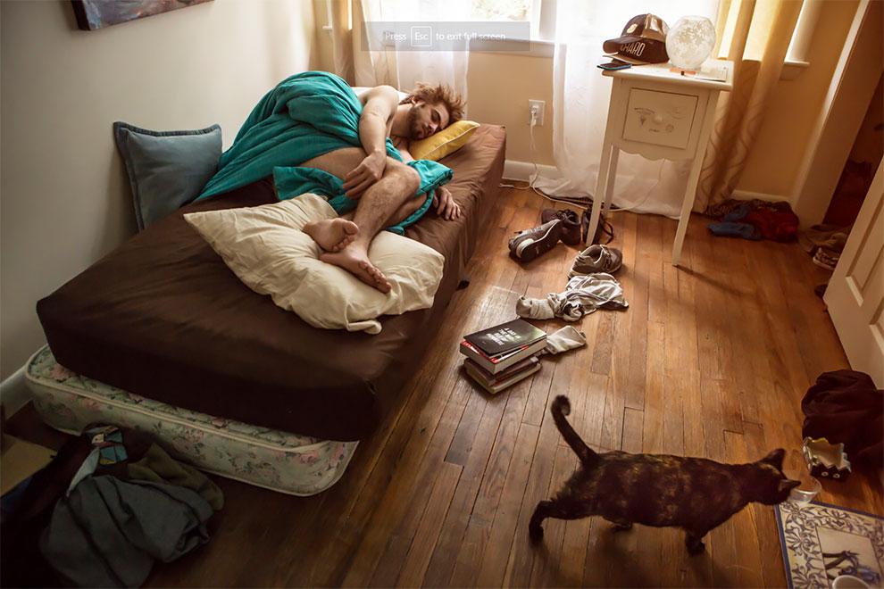 Винслоу и кошка Джуно: «У меня сейчас переходный период жизни, но теперь у меня хотя бы есть кошка».