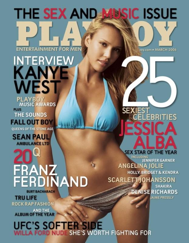 2006 год.   Джессика Альба одновременно появилась на обложке журнала в США и Японии. На америка