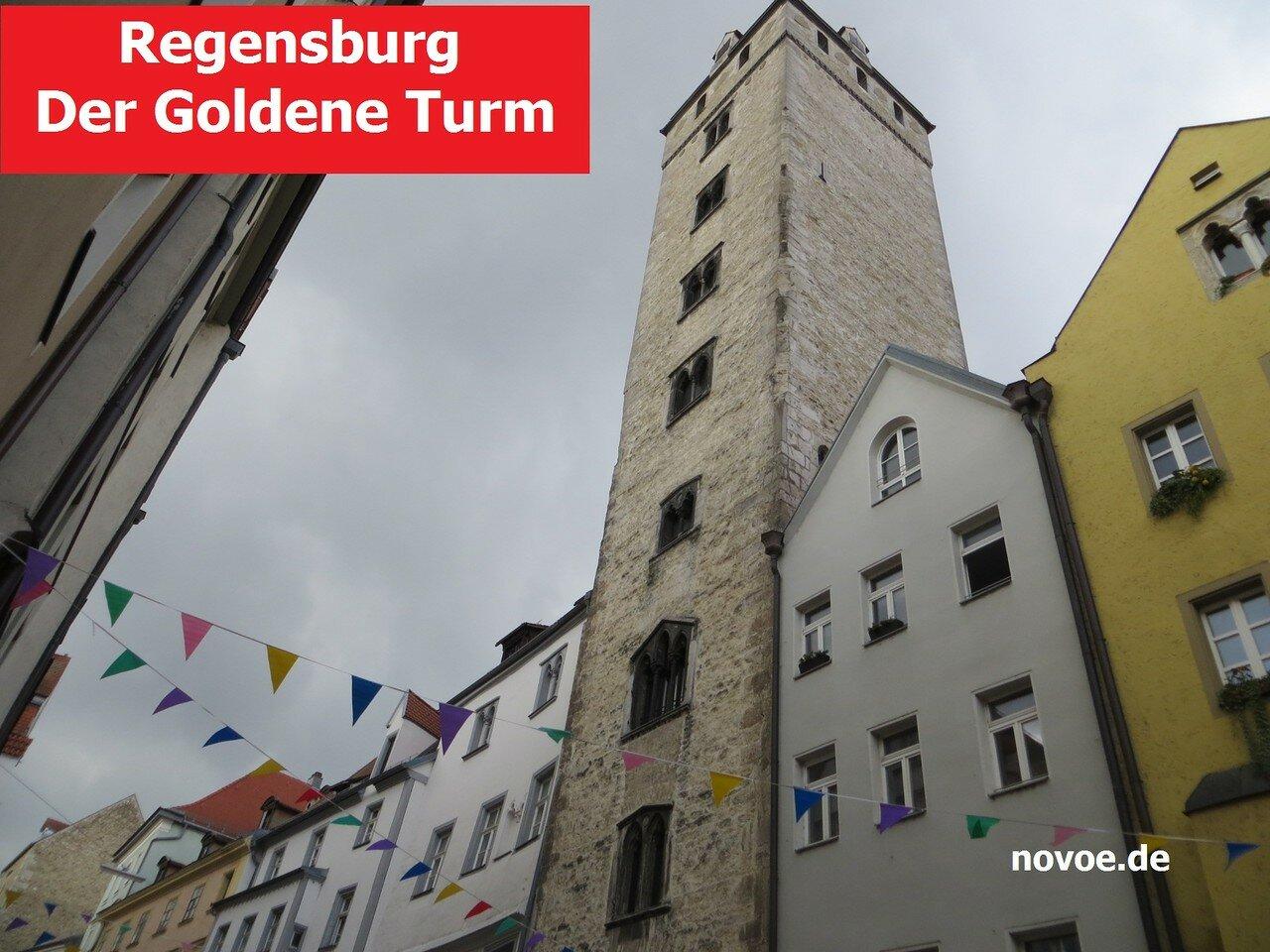 Регенсбург, Золотая башня, Der Goldene Turm. Путеводитель на немецком языке