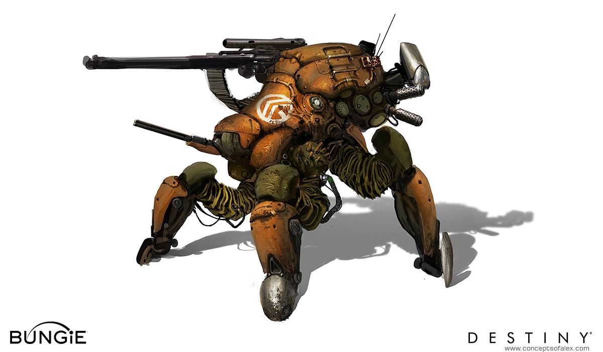 Destiny Concept Art by Alex Chin Yu Chu