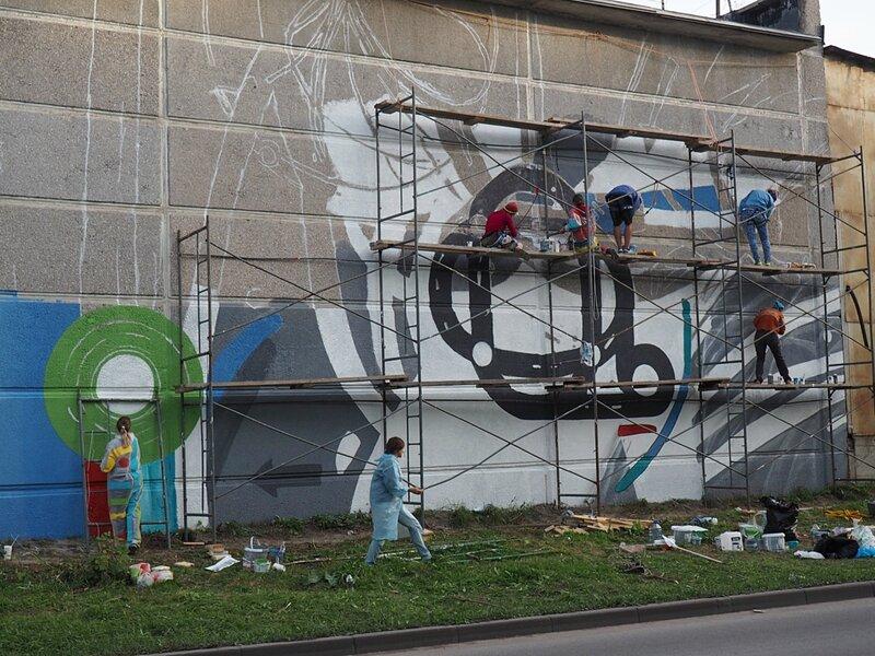 Новосибирск, Академгородок - граффити (Novosibirsk, Akademgorodok – graffiti)