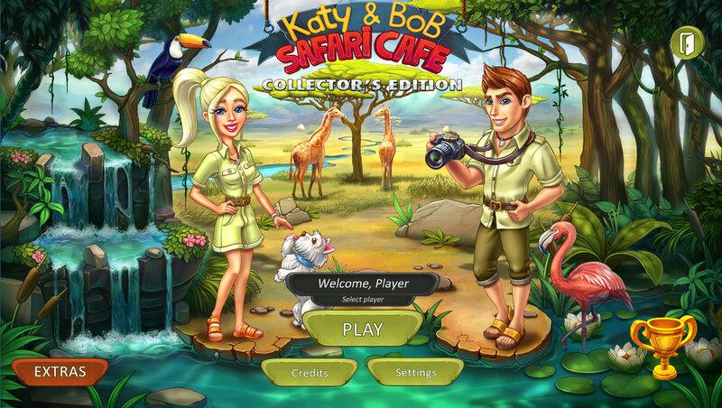 Katy and Bob: Safari Cafe Collectors Edition