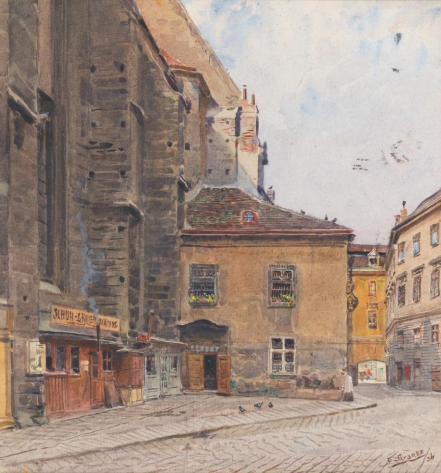 Schulhof in Vienna I , 1936.
