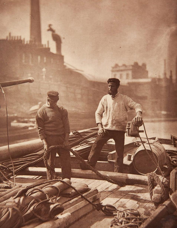 1877. Лодочники на Темзе