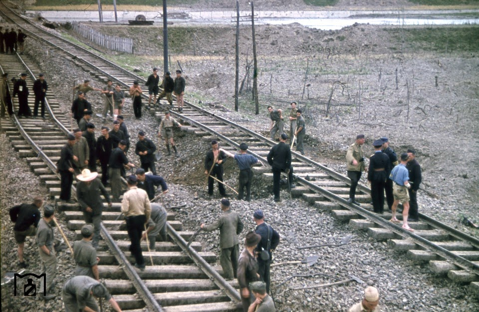 Restoration of the railway tracks manifested by prisoners of war.jpg