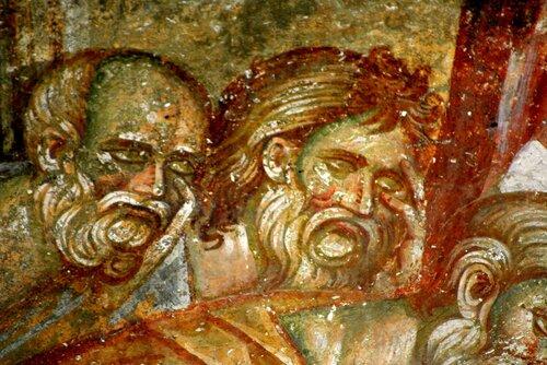 УСПЕНИЕ ПРЕСВЯТОЙ БОГОРОДИЦЫ. Фреска в церкви Спаса в монастыре Жича, Сербия. 1309 - 1316 годы.