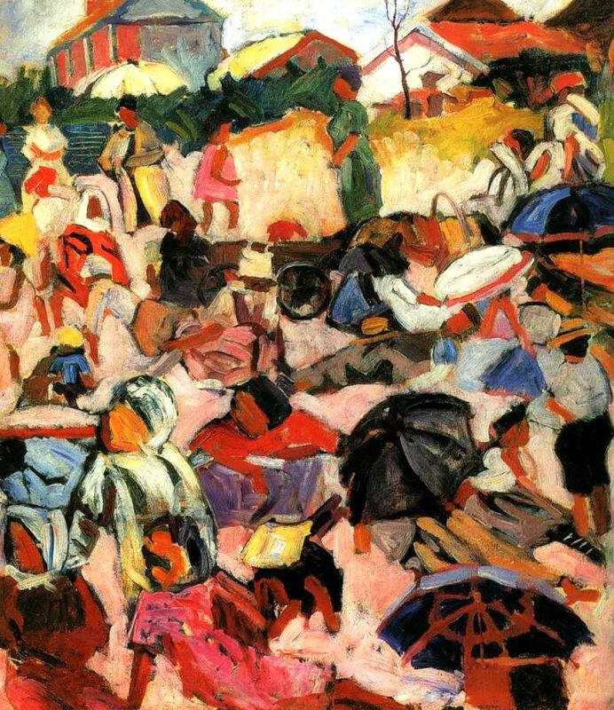Зонтики. Пляж начало 1910-х, Русский музей