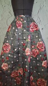 Ит375 спеццена 350руб-м Костюмно-плательная ткань с печатью,приятная,отлично держит форму,имеет легкий атласный блеск,не прозрачная,для бомберов,пышных юбок,платьев,жакетов,летних пальто,шир.1,50м,на ткани не явный деффект печати,размыт фон-черно-белый.пэ