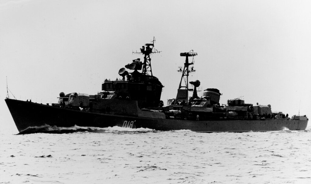 Soviet KOTLIN Class Destroyer, photographed during 1963 in the Baltic.